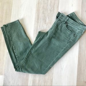 Jcrew Forest green Toothpick skinny jeans pants